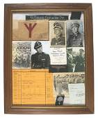 German WWII frame ink signed Sepp Dietrich etc