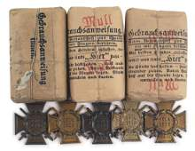 German WWI lot shell dressings medals