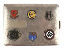 US WWII era hammered silver cigarette case