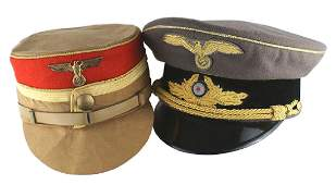 Lot of 2 reproduction German WWII caps