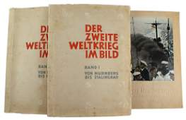 Lof of 3 German WWII cigarette card albums