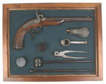 Percussion pistol HUEBEL Circa 1845-1850