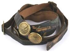 Four US M1881  1902 EM helmet chinstraps