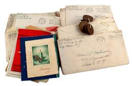 Lot of 140 US WWII letters envelopes Army signal