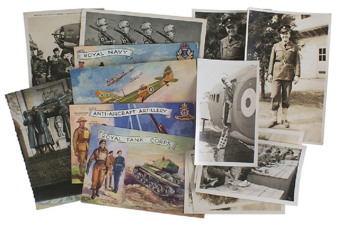 Lot of 7 WWII postcards US British Nazis