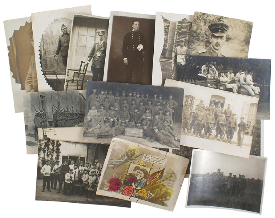 Lot of 15 WWI postcards German French Italian