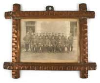 German WWI souvenir photoframe