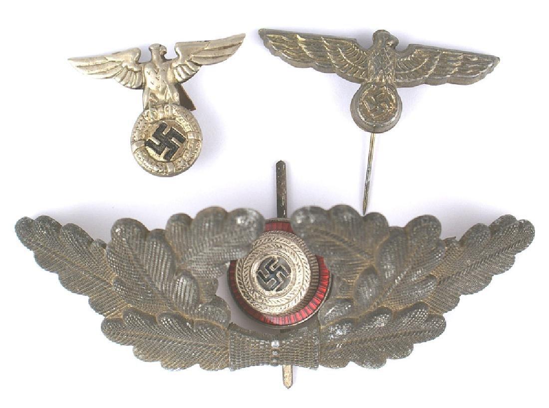 Lot of German WWII cap insignia