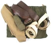 US WWII lot service belts neckties etc