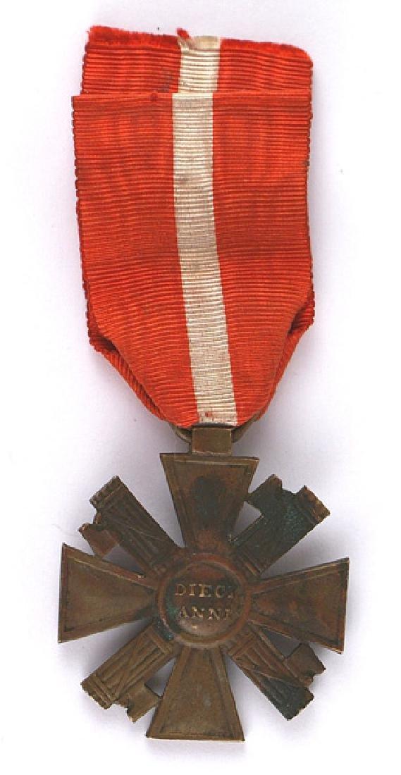 Italy Fascist era MVSN Cross medal