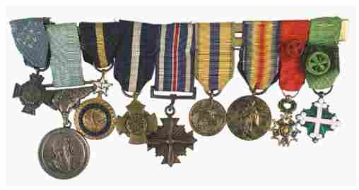 Admiral Byrd collection  medals insignia etc