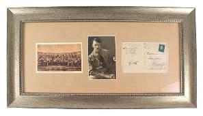 Interesting German WWII postcard signed Hitler