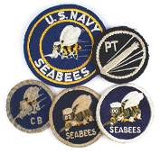 Lot of US Navy WWII embroidered patches