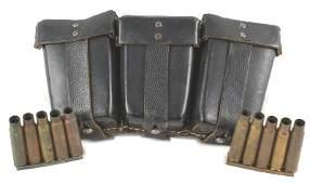 German WWII K98 leather cartridge pouch