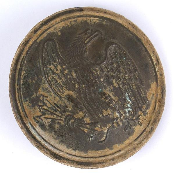 Excavated Civil War Federal eagle cross belt buckle