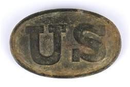 Excavated Civil War US belt buckle