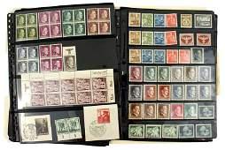 German WWII philatelic lot stamps etc