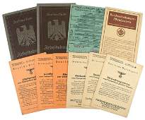 Lot of German WWII ID booklets NSKOV RAD