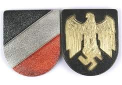 German WWII Navy Afrika Korps pith helmet shields