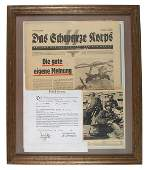 German WWII SS related newspaper photo etc