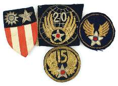 Lot of 4 US WWII patches CBI USAAF