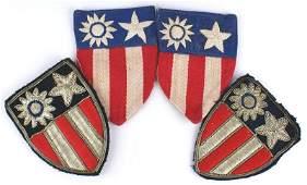 Lot of 4 US WWII CBI insignia