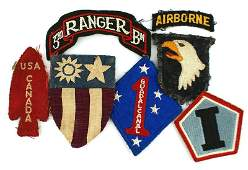 Lot of US WWII patches RANGER BN CBI