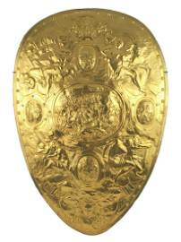 Museum quality shield of Henry II France 10K gold