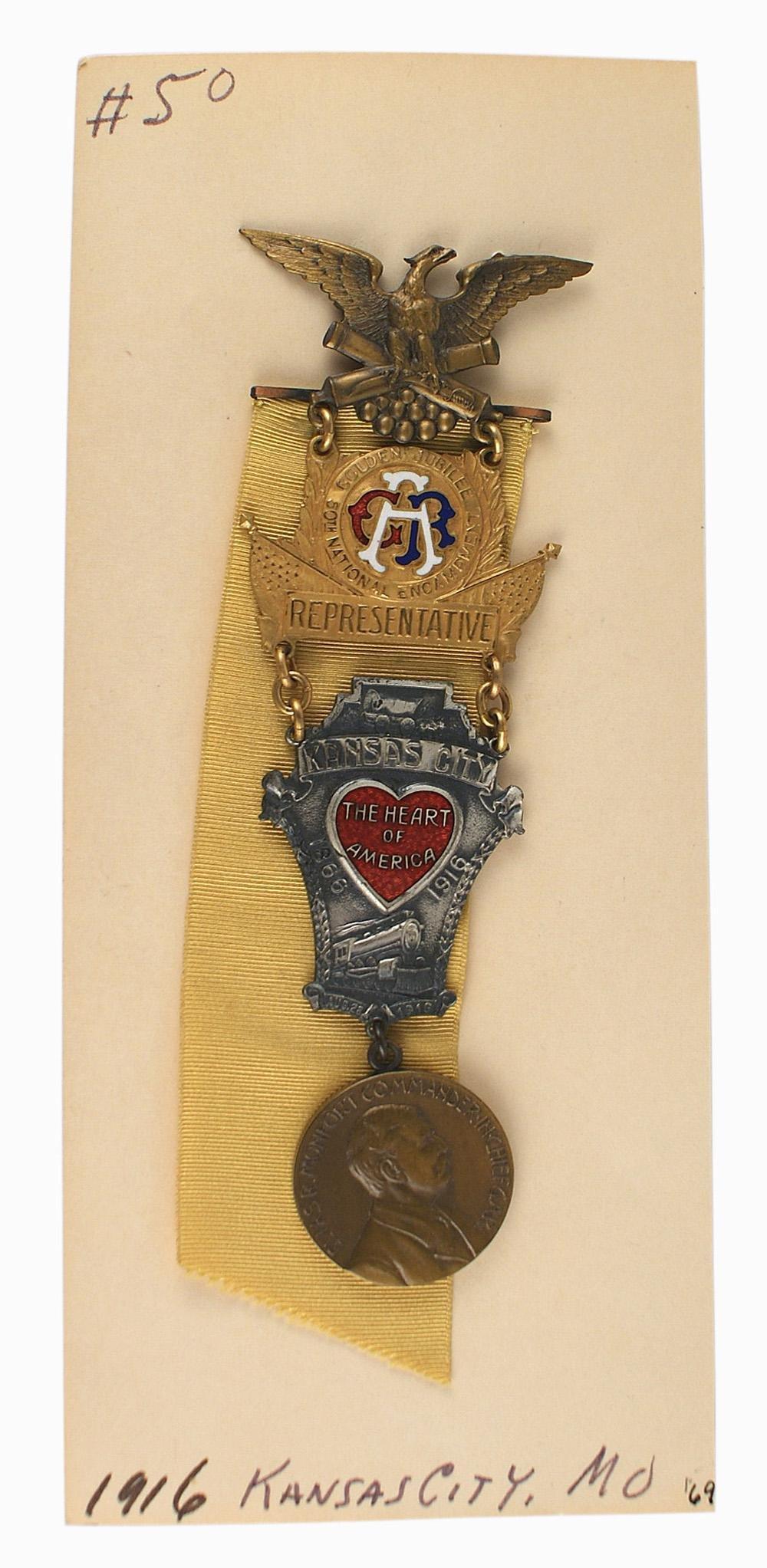 GAR Delegate Badge 50th Encampment 1916