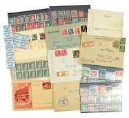 German WWII postal history Hitler head stamps etc