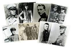 Lot of 80 old copy 8 x 10 portraits WWI aces