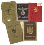 Lot of 5 German WWII ID booklets DAF