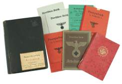 Lot of 8 German WWII ID booklets Kennkarte