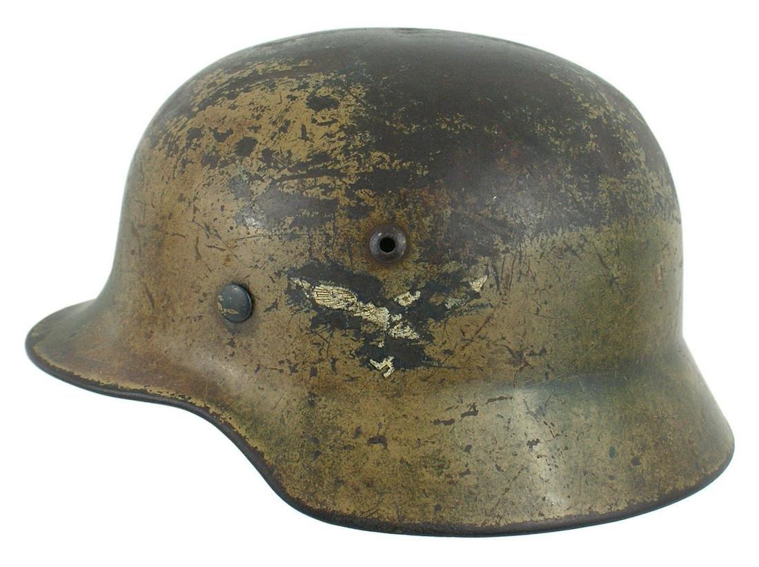 German Luftwaffe M1935 camouflage helmet