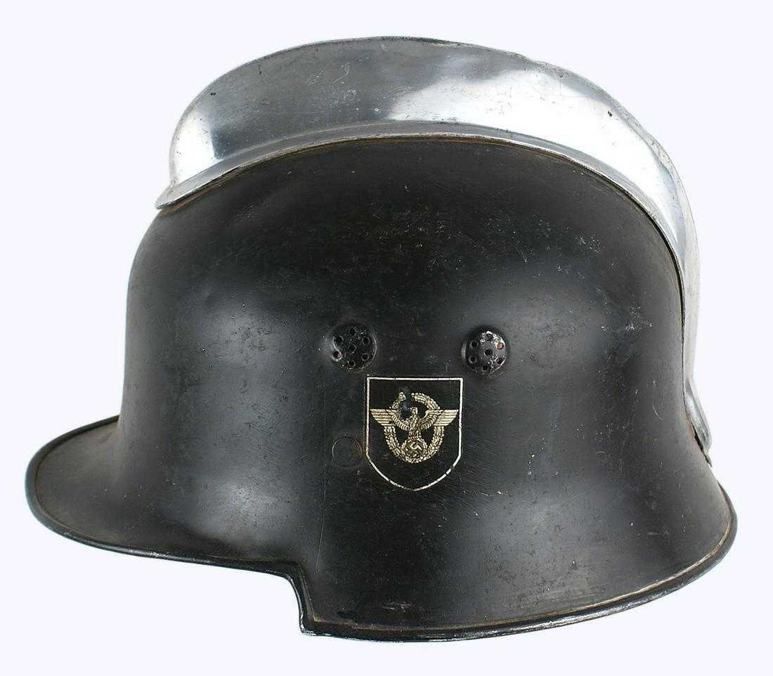 German WWII Fire Police Helmet