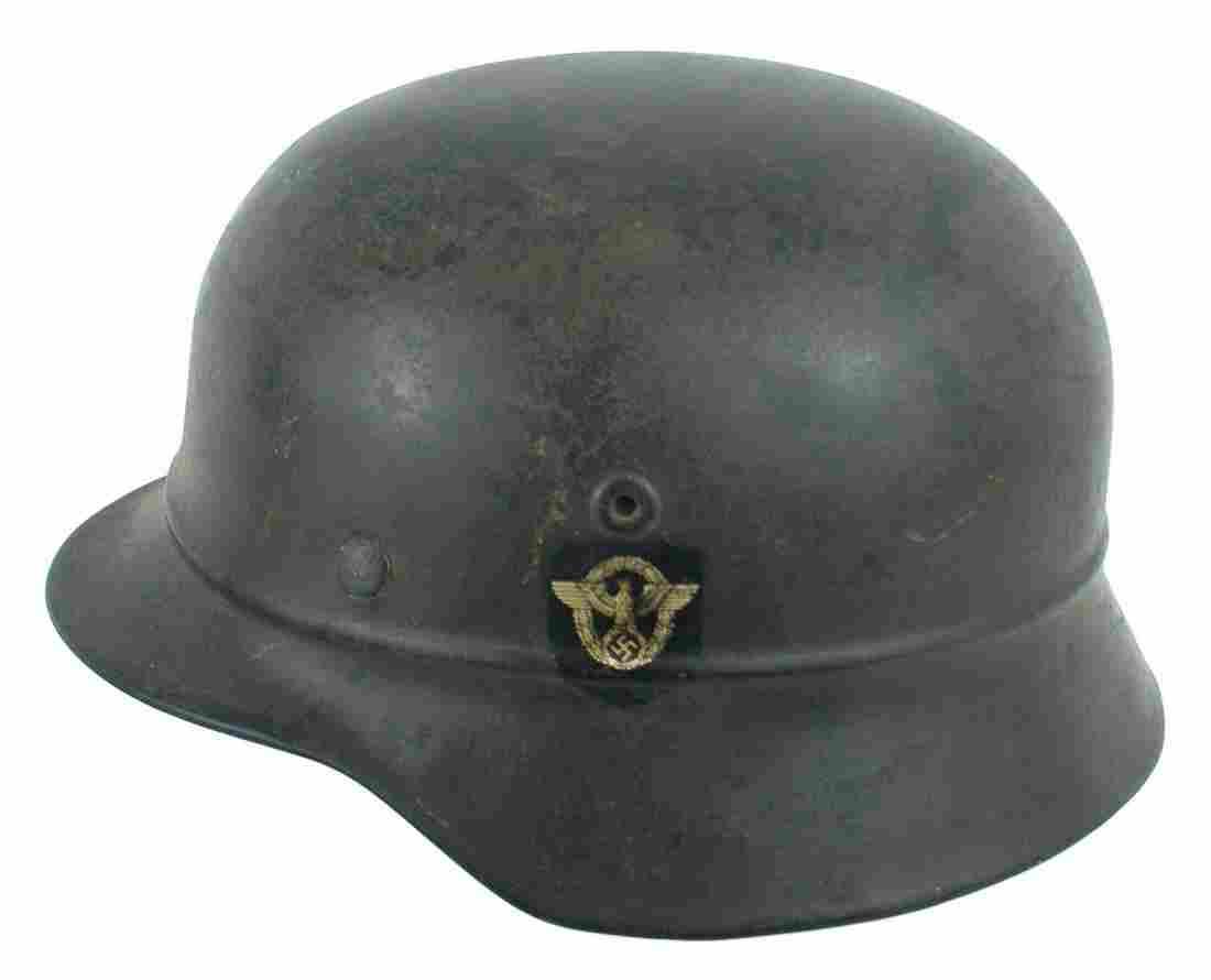 German WWII M1935 40 Luftschutzpolizei helmet