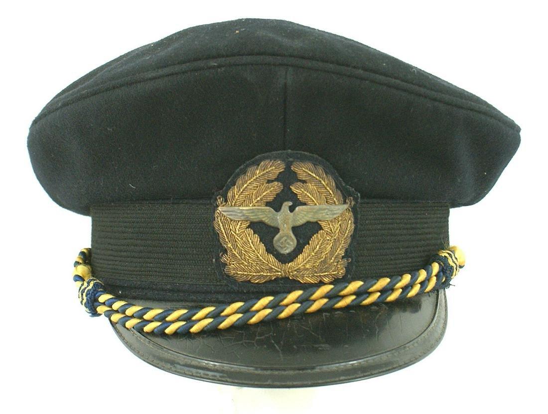German WWII SA Marine officer peaked cap