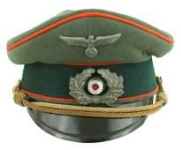 German Army WWII officer Artillery peaked cap