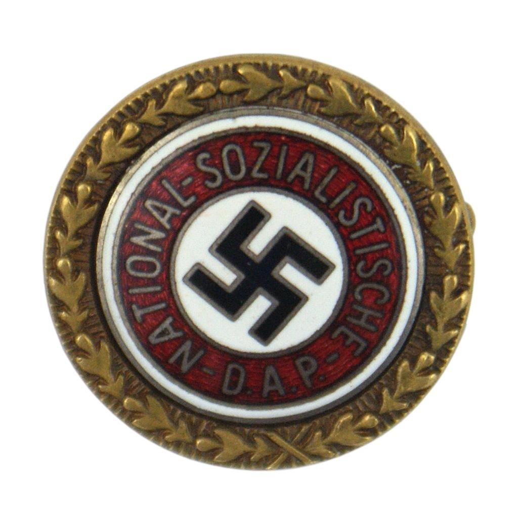 German WWII NSDAP Golden Party Badge