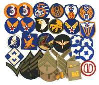 Lot of 50 US WWII embroidered patches