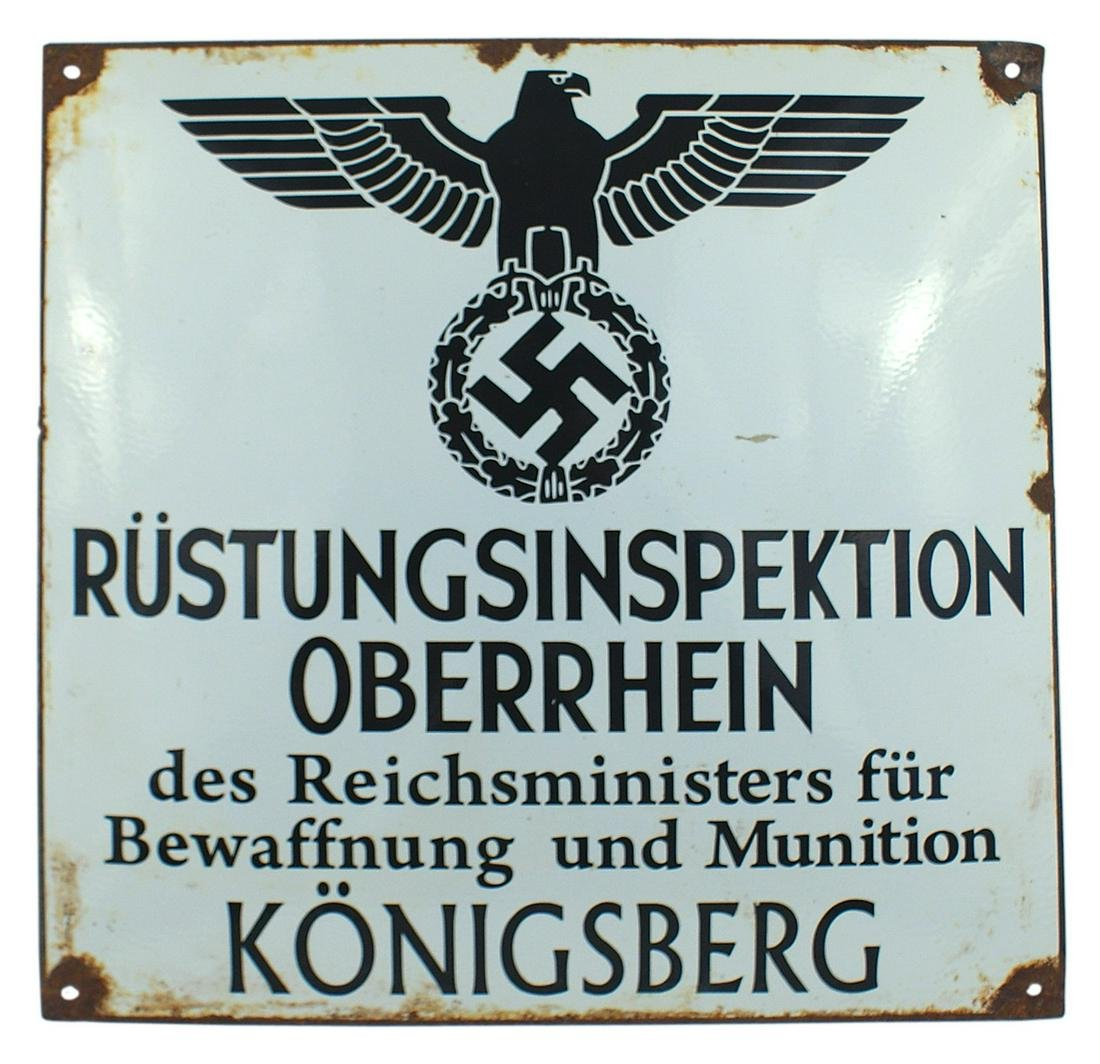 Spurious German WWII Weapons Inspection sign