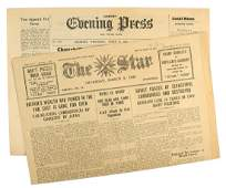 Lot of 2 WWII issues Isle of Gurnsey newspapers