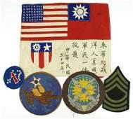 US WWII CBI 14th AF A2 patch map etc
