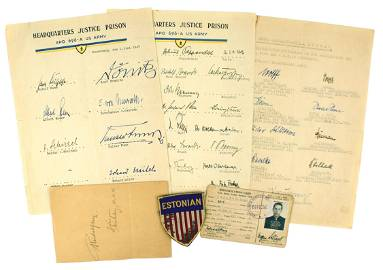 Historical Nurnberg War Crimes signatures Third Reich