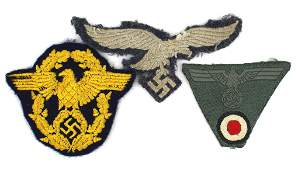 Lot of 3 German WWII eagle insignia Luftwaffe Army