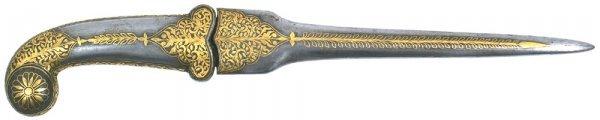 """7: """"Khanjar"""".  Indo-Persian dagger"""