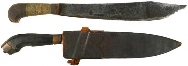 16: Lot of 2  South Philippines weapons Barong knife