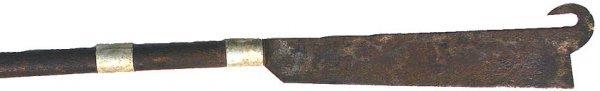 18: Borneo Sumatra straight blade axe type weapon
