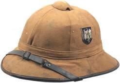 490 German WWII Afrika Korps pith helmet