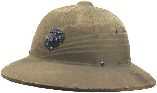 523: U.S. Marine Corps USMC WWII pith helmet